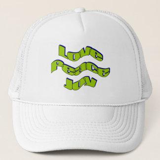 Love peace joy trucker hat