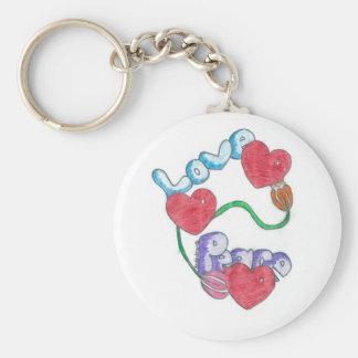 Love & Peace Keychain