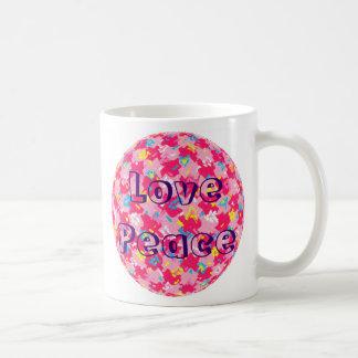 Love Peace Classic White Coffee Mug
