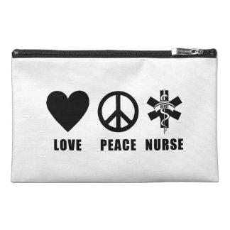 Love Peace Nurse Travel Accessories Bags