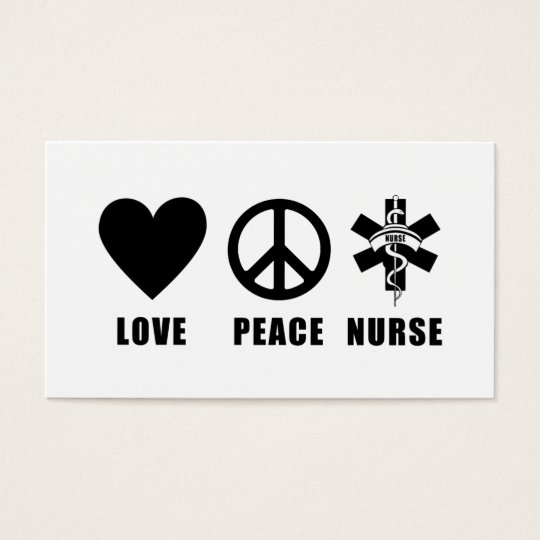 Love Peace Nurse Business Card