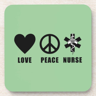 Love Peace Nurse Coaster