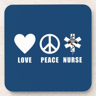 Love Peace Nurse Coaster