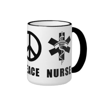 Love Peace Nurse Coffee Mug