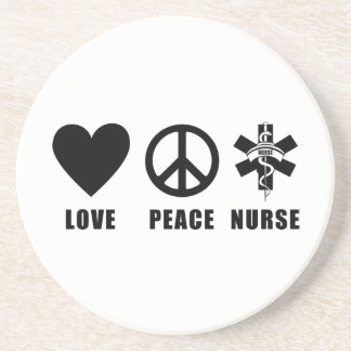 Love Peace Nurse Drink Coaster