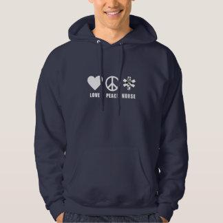 Love Peace Nurse Hoodie