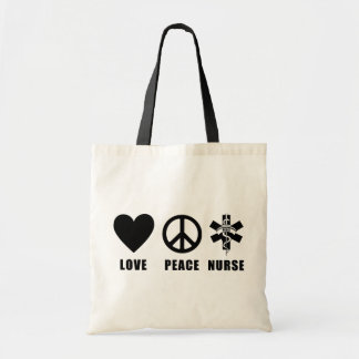 Love Peace Nurse Tote Bag