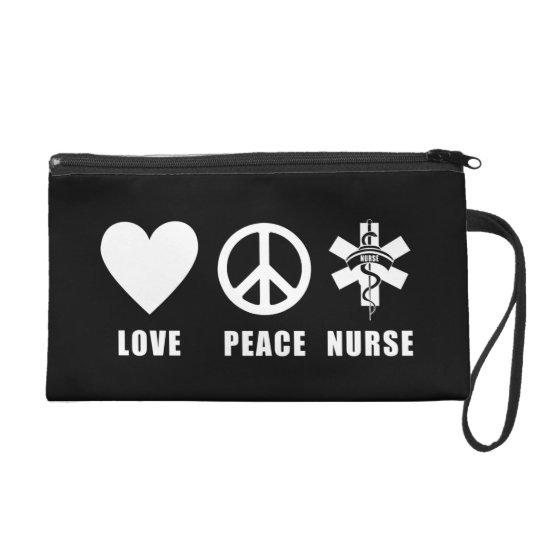 Love Peace Nurse Wristlet Purse