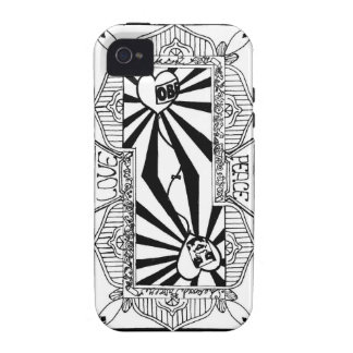 Love&peace playing card (Back) iPhone 4/4S Cover