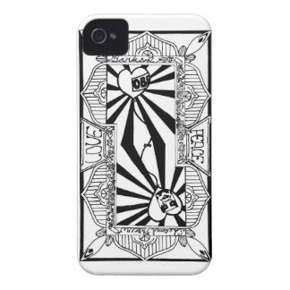 Love&peace playing card (back) iPhone 4 case