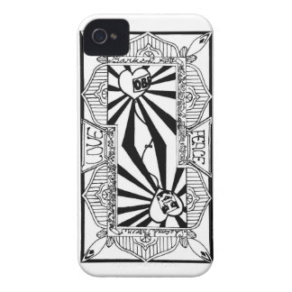 Love&Peace playing card (back) iPhone 4 Cases