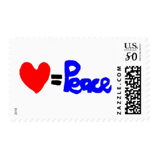 love = peace postage