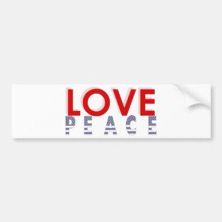 Love Peace prints Bumper Sticker