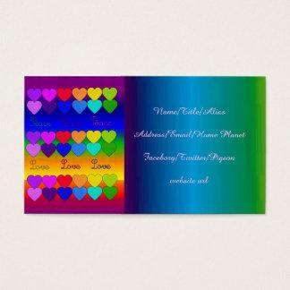 Love, Peace, Rainbows Business Card