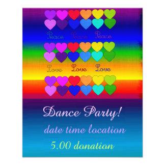 Love, Peace, Rainbows Full Color Flyer