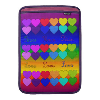 Love, Peace, Rainbows MacBook Air Sleeve