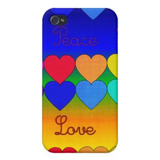 Love, Peace, Rainbows iPhone 4 Cases