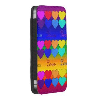 Love, Peace, Rainbows iPhone SE/5/5s/5c Pouch