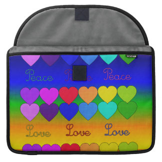 Love, Peace, Rainbows MacBook Pro Sleeves