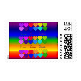 Love, Peace, Rainbows Stamps
