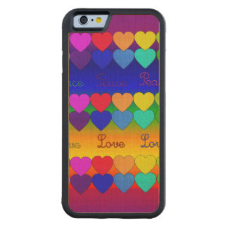 Love, Peace, Rainbows Carved® Maple iPhone 6 Bumper