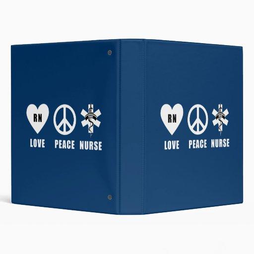 Love Peace RN 3 Ring Binders