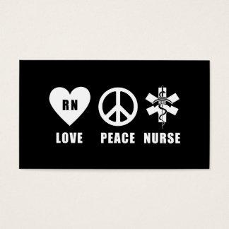 Love Peace RN Business Card