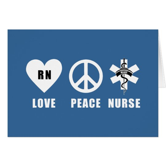 Love Peace RN Card