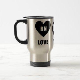 Love Peace RN mug