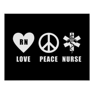 Love Peace RN Poster