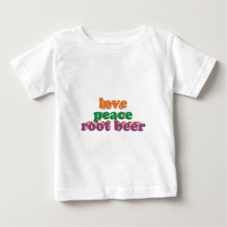 love peace roots more beer baby T-Shirt