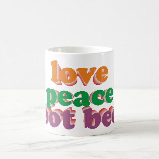 love peace roots more beer classic white coffee mug