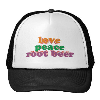 love peace roots more beer mesh hats