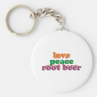 love peace roots more beer keychain