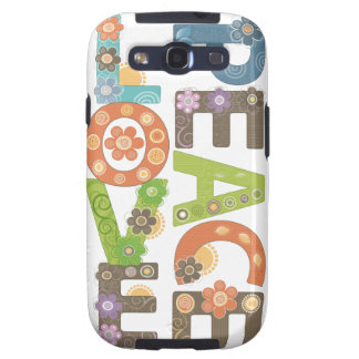 Love & Peace Samsung Galaxy SIII Cover