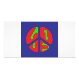 love peace sign photo card