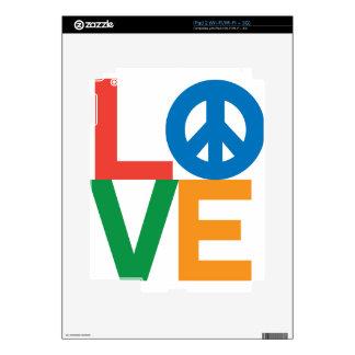 Love Peace Decal For iPad 2