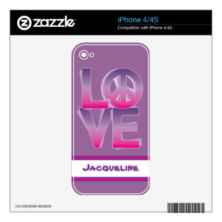 LOVE=Peace Skins For iPhone 4S