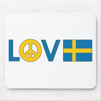 Love Peace Sweden Mouse Pad