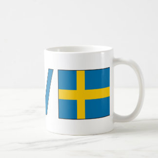 Love Peace Sweden Classic White Coffee Mug