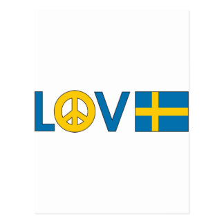 Love Peace Sweden Postcard