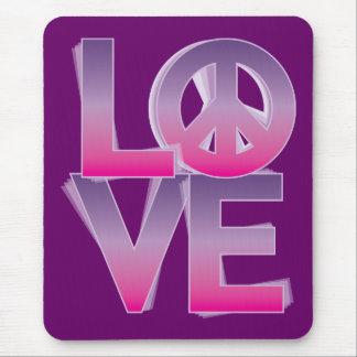 LOVE=Peace Tapetes De Ratón