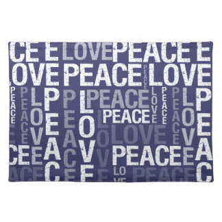 Love Peace Typography Cloth Placemat