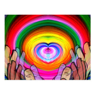 Love,Peace & Unity_ Postcard