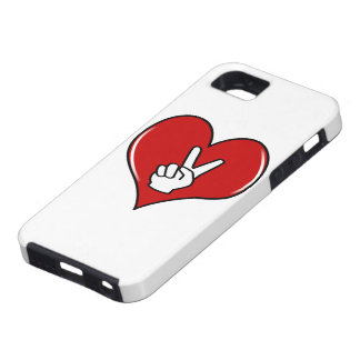 Love Peace With Heart iPhone 5 Covers