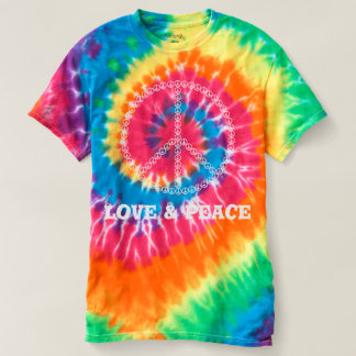 Love & Peace Women's Spiral Tie-Dye T-Shirt