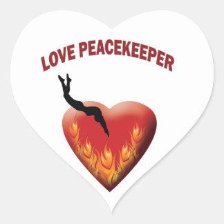 Love Peacekeeper Heart Sticker