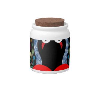 love pecock 3 candy jar