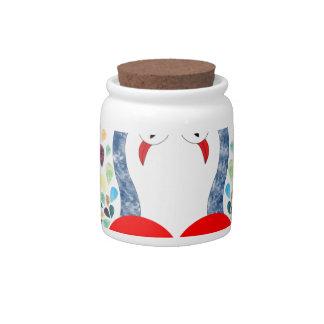 love pecock candy jar