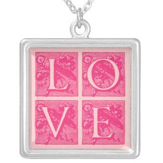 LOVE Pendant in Elegant Font